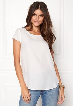 VERO MODA Boca SS Top Snow White Bubbleroom.fi