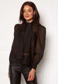 VERO MODA Briana L/S Shirt Black Bubbleroom.se