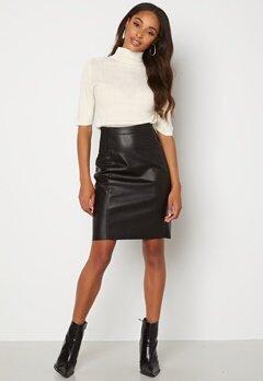 VERO MODA Buttersia Coated Skirt Black bubbleroom.se