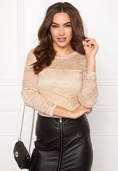 VERO MODA Celeb Lace Top Ivory Cream Bubbleroom.fi