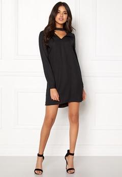 VERO MODA Chiara LS Choker Dress Black Bubbleroom.se