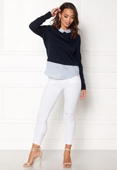 VERO MODA Cindy LS Shirt Top Navy Blazer Bubbleroom.dk