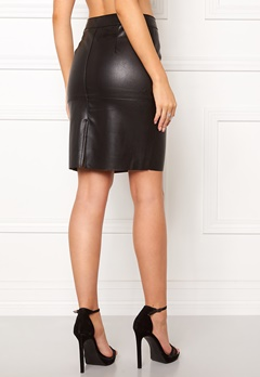 VERO MODA Clara Pu Skirt Black Bubbleroom.dk