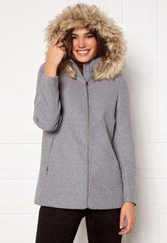 VERO MODA Collar York Wool Jacket Light Grey Melange Bubbleroom.se