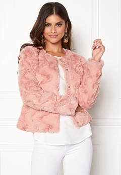 VERO MODA Curl Short Fake Fur Jacket Rose Cloud Bubbleroom.se
