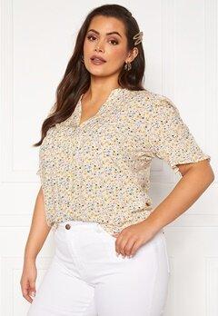 Vero Moda Curve Cila SS Shirt Birch Bubbleroom.se