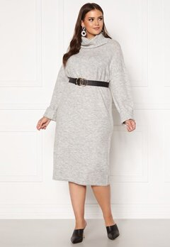 Vero Moda Curve Gaiva Cowl Neck Dress Light Grey Melange Bubbleroom.se