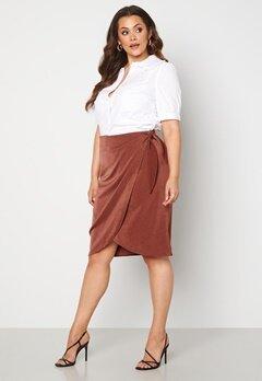 Vero Moda Curve Kakki Skirt Sable bubbleroom.se