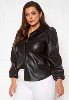 Vero Moda Curve Lio LS Shirt Black Bubbleroom.se