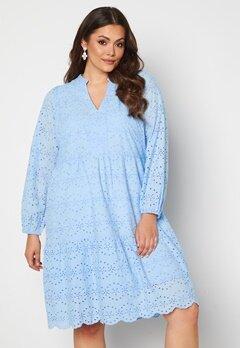 Vero Moda Curve Nice LS Below Knee Dress Placid Blue Bubbleroom.se