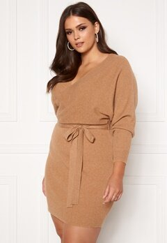 Vero Moda Curve Rem V-neck Dress Tan Bubbleroom.se