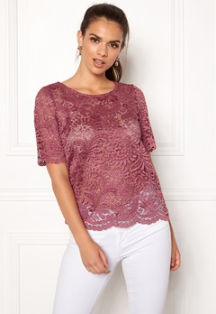 VERO MODA Daisy Lace 2/4 Top Dry Rose Bubbleroom.se