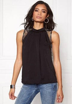 VERO MODA Dawn s/l Top Black/Black Bubbleroom.fi