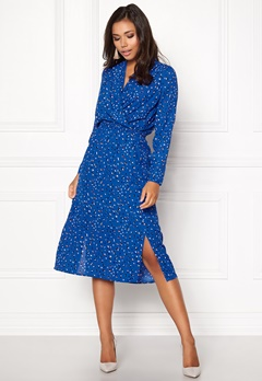 VERO MODA Dee Calf Midi Dress Strong Blue Bubbleroom.se