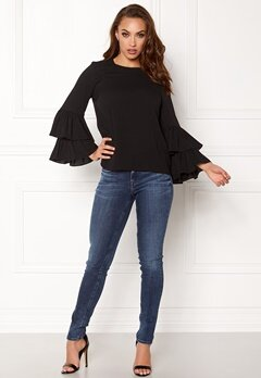 VERO MODA Dellie LS Top Black Bubbleroom.se