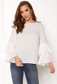 VERO MODA Dellie LS Top Snow White Bubbleroom.se