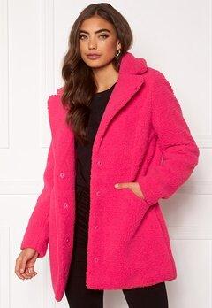 VERO MODA Donna Teddy Jacket Pink Peacock Bubbleroom.se