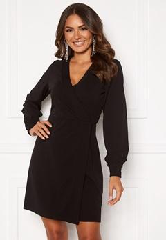 VERO MODA Elena v-neck Short Dress Black Bubbleroom.se