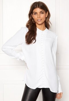 VERO MODA Ella LS Shirt Bright White Bubbleroom.se