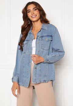 VERO MODA Emery Ls Oversize Denim Shirt Light Blue Denim Bubbleroom.se