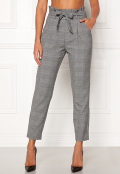 VERO MODA Eva HR Loose Paperbag Grey Checks: white Bubbleroom.se