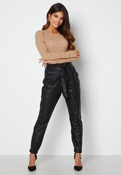 VERO MODA Eva Loose Coated Pants Black bubbleroom.se