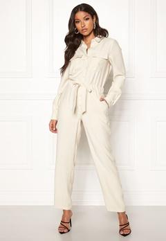 VERO MODA Eva L/S Button Jumpsuit Bone White Bubbleroom.se