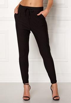 VERO MODA Eva MR Loose Pinstripe Pants Black Bubbleroom.se