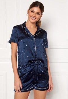 VERO MODA Fanni S/S Nightwear Set Navy Blazer Bubbleroom.se