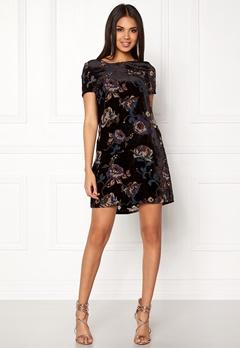 VERO MODA Fiona S/S Short Dress Black Comb 2 Bubbleroom.fi