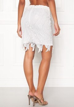 VERO MODA Flora hw Lace Skirt Snow White Bubbleroom.fi