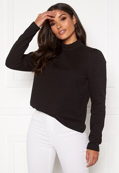 VERO MODA Forest ls Pleat Sweat Black Bubbleroom.se