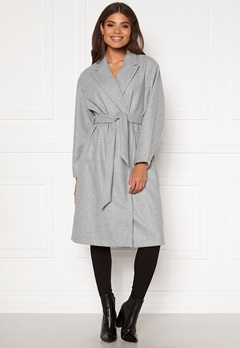 VERO MODA Fortune Long Jacket PI Light Grey Melange Bubbleroom.se