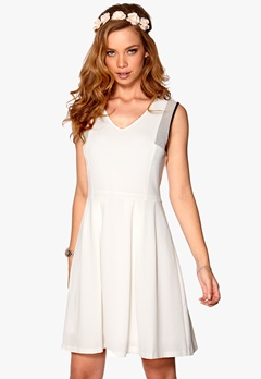 VERO MODA Gazala Short Dress Snow White Bubbleroom.no