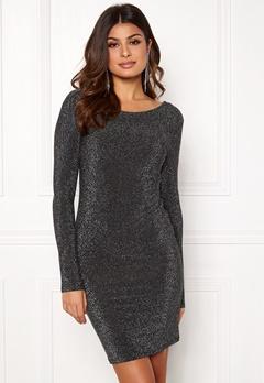 VERO MODA Githa LS Lurex Dress Black Silver Lurex Bubbleroom.se