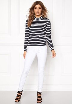 VERO MODA Glory Stripe Turtleneck Total Eclipse Bubbleroom.fi