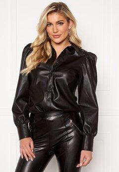 VERO MODA Gwen PU Puff Shirt Black Bubbleroom.se