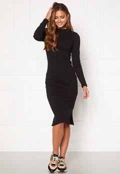 VERO MODA Harriet L/S High Neck Dress Black Bubbleroom.se