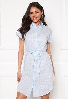VERO MODA Heaven SL Shirt Dress Placid Blue Bubbleroom.se