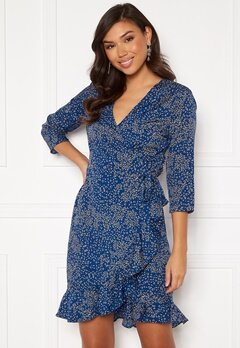 VERO MODA Henna 3/4 Wrap Dress Sodalite Blue Bubbleroom.se