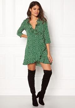 VERO MODA Henna Dot 3/4 Wrap Dress Myrtle Bubbleroom.se