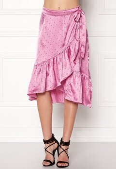 VERO MODA Henna Satin Wrap Skirt Opera Mauve Bubbleroom.se