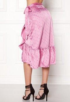 VERO MODA Henna Satin Wrap Skirt Opera Mauve Bubbleroom.fi