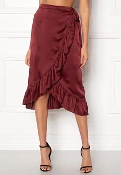 VERO MODA Henna Shine Wrap Skirt Cabernet Bubbleroom.se