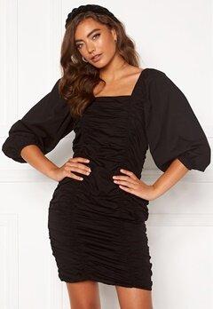 VERO MODA Henny 3/4 Rouching Dress Black Bubbleroom.se