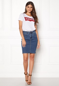 VERO MODA Hot Nine Pencil Skirt Medium Blue Denim Bubbleroom.se