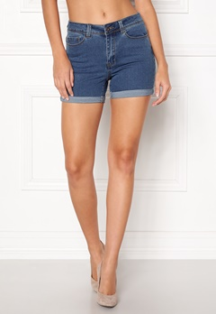 VERO MODA Hot Seven Fold Shorts Medium Blue Denim Bubbleroom.se