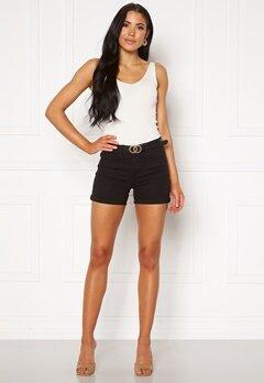VERO MODA Hot Seven NW Dnm Fold Shorts Mix Black Bubbleroom.se