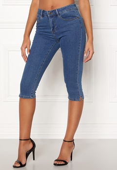 VERO MODA Hot Seven Slit Knickers Medium Blue Denim Bubbleroom.se