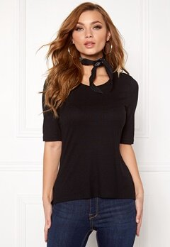 VERO MODA Iris Rib Top Black Bubbleroom.se